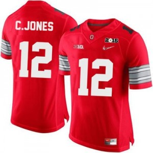 Cardale Jones OSU #12 Diamond Quest 2015 Patch College Football Jersey - Scarlet