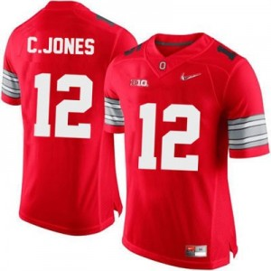 Cardale Jones OSU #12 Diamond Quest Playoff Football Jersey - Scarlet Red