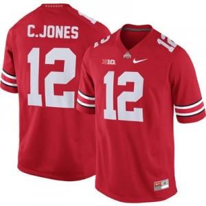 Cardale Jones Ohio State Buckeyes #12 Football Jersey - Scarlet