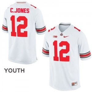 Cardale Jones Ohio State Buckeyes #12 Football Jersey - White - Youth
