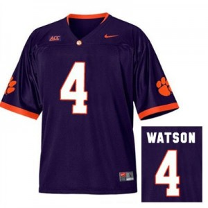 Deshaun Watson Clemson Tigers #4 Alternate Football Jersey - Purple