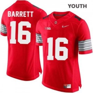 J.T. Barrett OSU #16 Diamond Quest Playoff Football Jersey - Scarlet Red - Youth