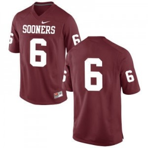 Oklahoma Sooners #6 Baker Mayfield Red Football Jersey (No Name)
