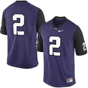 TCU Horned Frogs #2 College Football Jersey - Purple