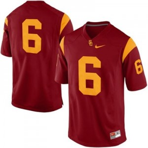 USC Trojans #6 College Football Jersey - Red