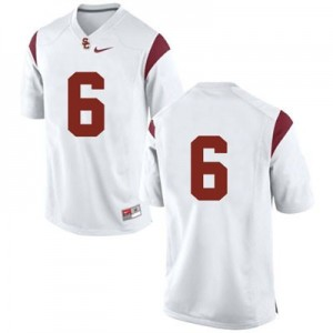 USC Trojans #6 College Football Jersey - White