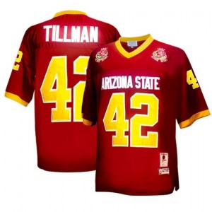 Pat Tillman (ASU) #42 1997 Rose Bowl Vintage Youth Football Jersey - Red