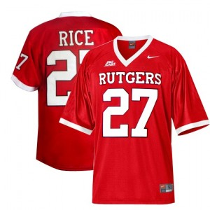 Ray Rice Rutgers Scarlet Knights #27 Youth Football Jersey - Red