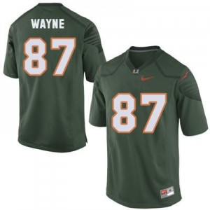 Reggie Wayne Miami Hurricanes #87 Youth Football Jersey - Green