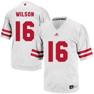 Russell Wilson Wisconsin Badgers #16 Football Jersey - White