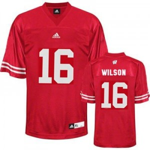 Russell Wilson Wisconsin Badgers #16 Youth Football Jersey - Red