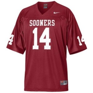 Sam Bradford Oklahoma Sooners #14 Youth Football Jersey - Crimson Red
