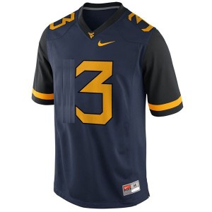 Stedman Bailey West Virginia Mountaineers #3 Football Jersey - Blue