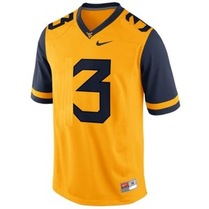 Stedman Bailey West Virginia Mountaineers #3 Football Jersey - Gold
