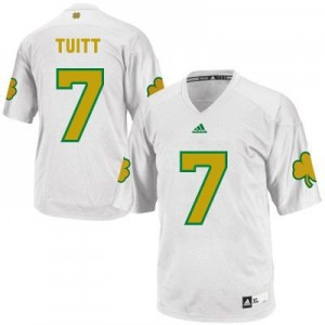 Stephon Tuitt Notre Dame Fighting Irish #7 Shamrock Series Youth Football Jersey - White