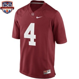 T.J. Yeldon Alabama #4 BCS Bowl Patch Football Jersey - Crimson Red