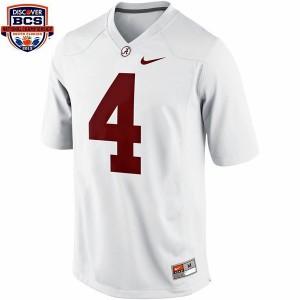 T.J. Yeldon Alabama #4 BCS Bowl Patch Youth Football Jersey - White