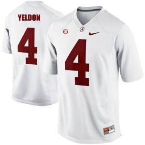 T.J. Yeldon Alabama #4 Football Jersey - White
