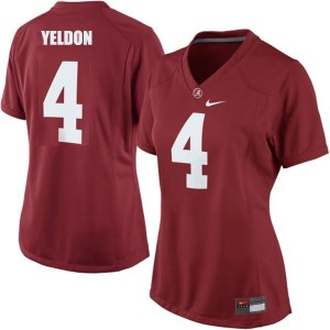 T.J. Yeldon Alabama #4 Women Football Jersey - Crimson Red