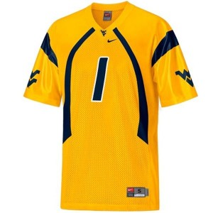 Tavon Austin West Virginia Mountaineers #1 Football Jersey - Gold