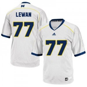 Taylor Lewan Michigan Wolverines #77 Youth Football Jersey - White
