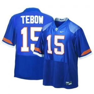 Tim Tebow Florida Gators #15 Youth Football Jersey - Blue