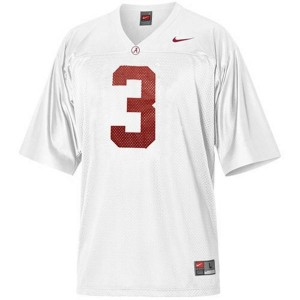 Trent Richardson Alabama #3 Youth Football Jersey - White