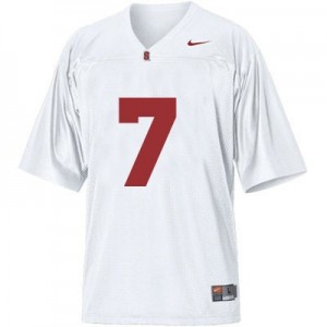 Ty Montgomery Stanford Cardinal #7 Youth Football Jersey - White
