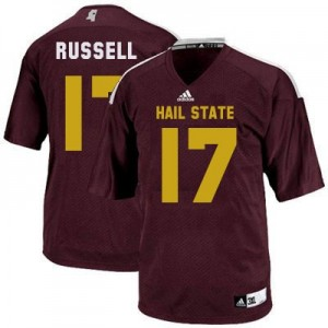Tyler Russell Mississippi State Bulldogs #17 Youth Football Jersey - Maroon Red