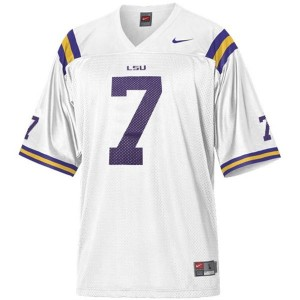 Tyrann Mathieu LSU Tigers #7 Mesh Youth Football Jersey - White