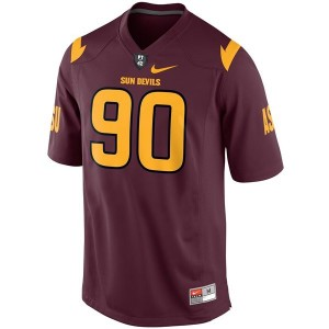 Will Sutton (ASU) #90 Youth Football Jersey - Red