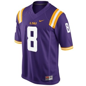 Zach Mettenberger LSU Tigers #8 Mesh Youth Football Jersey - Purple