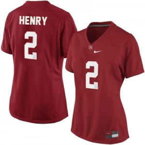Derrick Henry Alabama #2 Women Football Jersey - Crimson Red