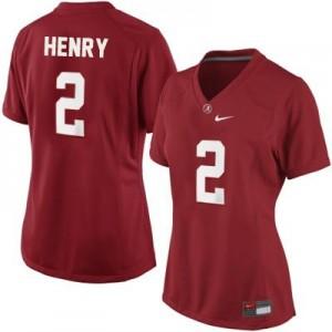 Derrick Henry Alabama #2 Women Football Jersey - Crimson Red