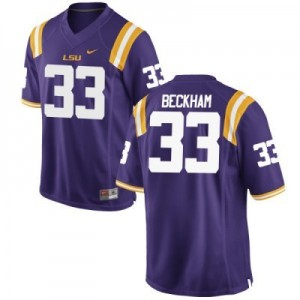 Odell Beckham LSU Tigers #33 Mesh Youth Football Jersey - Purple