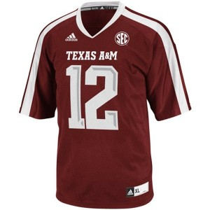 12th Man Texas A&M Aggies #12 Youth Football Jersey - Maroon Red