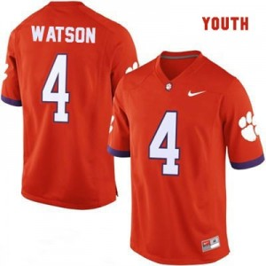 Deshaun Watson Clemson Tigers #4 College Football Jersey - Orange - Youth