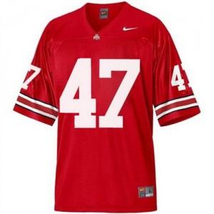 A.J. Hawk Ohio State Buckeyes #47 Football Jersey - Scarlet Red