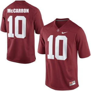 A.J. McCarron Alabama Apparel #10 Football Jersey - Crimson Red