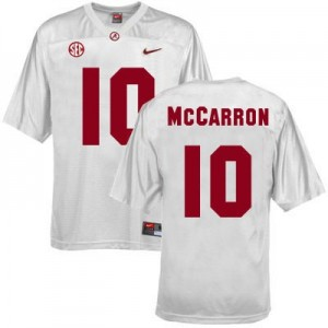 A.J. McCarron Alabama Apparel #10 Youth Football Jersey - White