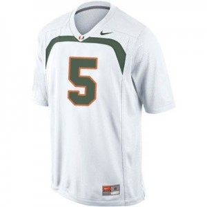 Andre Johnson Miami Hurricanes #5 Football Jersey - White