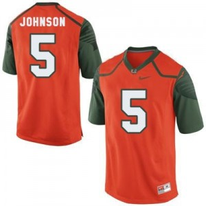 Andre Johnson Miami Hurricanes #5 Youth Football Jersey - Orange