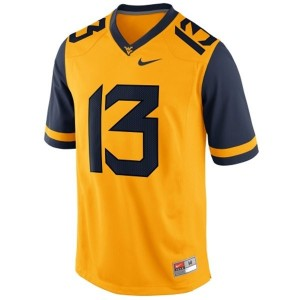 Andrew Buie West Virginia Mountaineers #13 Youth Football Jersey - Gold