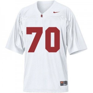Andrus Peat Stanford Cardinal #70 Youth Football Jersey - White