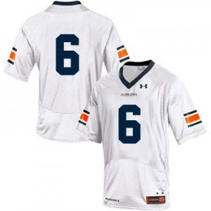 Auburn Tigers #6 College Football Jersey - White