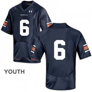 Auburn Tigers #6 College Football Jersey - Youth - Blue