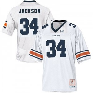 Bo Jackson Auburn Tigers #34 Youth Football Jersey - White