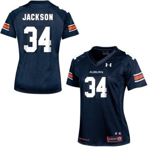Bo Jackson Auburn Tigers #34 Women Football Jersey - Navy Blue