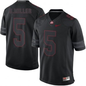 Braxton Miller Ohio State Buckeyes #5 Lights Out Youth Football Jersey - Black