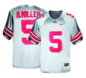 Braxton Miller Ohio State Buckeyes #5 Youth Football Jersey - Gray